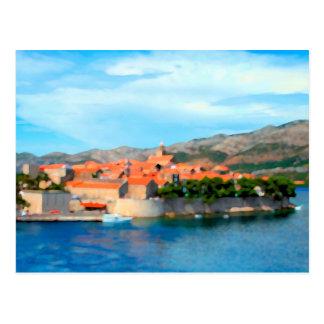 Croatia Harbor Postcard