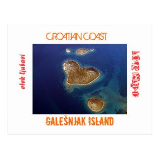 Croatia - Heart shaped island Galešnjak Postcard