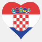 croatia heart sticker
