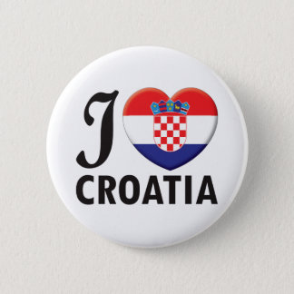 Croatia Love 2 Inch Round Button