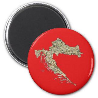 Croatia Map Magnet