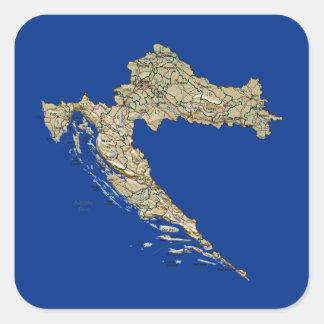 Croatia Map Sticker