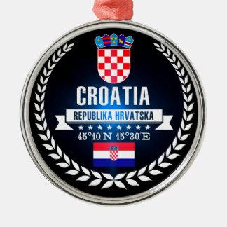 Croatia Metal Ornament