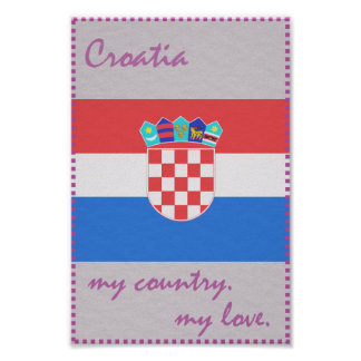 Croatia My Heart My Country Poster
