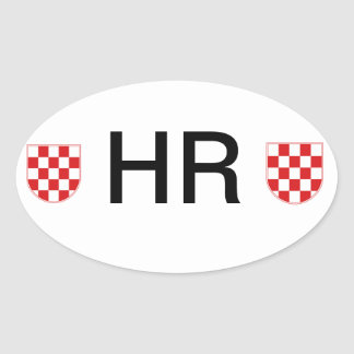 Croatia Oval Sticker