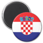 Croatia Plain Flag 2 Inch Round Magnet