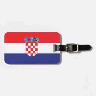 Croatia Plain Flag Bag Tag