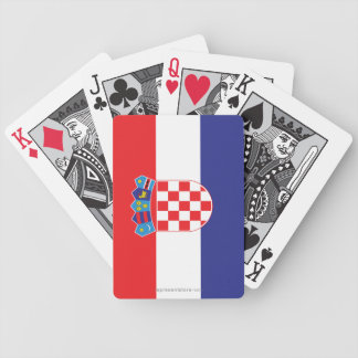 Croatia Plain Flag Bicycle Playing Cards