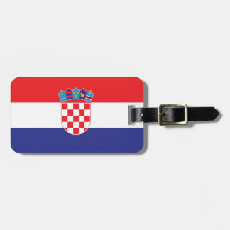 Croatia Plain Flag Luggage Tag