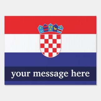 Croatia Plain Flag Sign