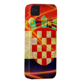 Croatia Pride Fire Flag iPhone 4 Cover
