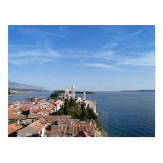 Croatia, Rab island and town Postcard