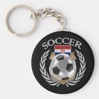 Croatia Soccer 2016 Fan Gear Basic Round Button Keychain