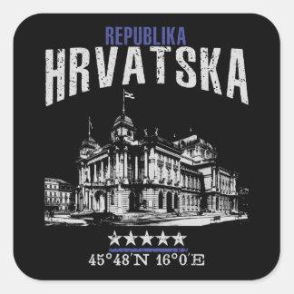 Croatia Square Sticker