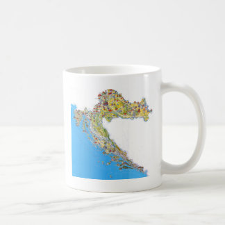 Croatia touristic map, hrvatska turistička mapa coffee mug