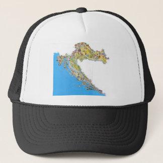 Croatia touristic map, hrvatska turistička mapa trucker hat