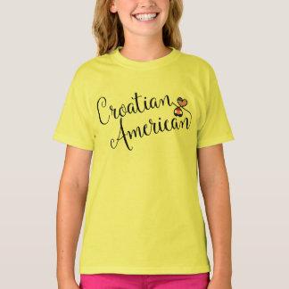 Croatian American Entwinted Hearts Tee Shirt