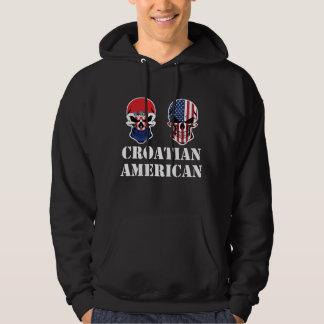 Croatian American Flag Skulls Hoodie