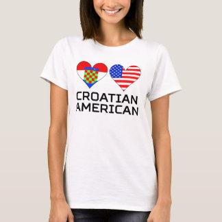 Croatian American Hearts T-Shirt