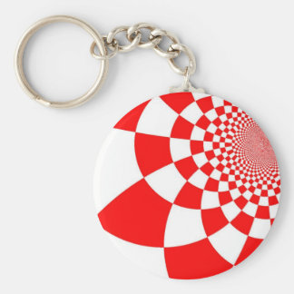 Croatian checkers basic round button keychain