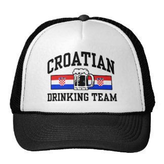 Croatian Drinking Team Trucker Hat