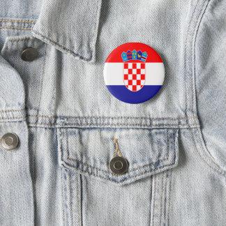 Croatian flag 2 inch round button