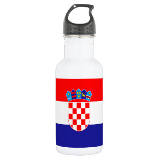 Croatian flag 532 ml water bottle