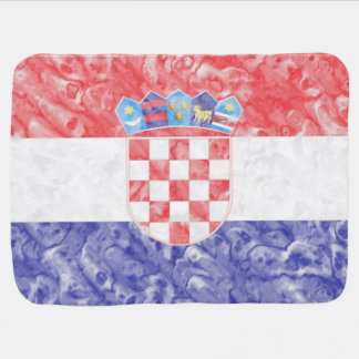 Croatian Flag Baby Blanket