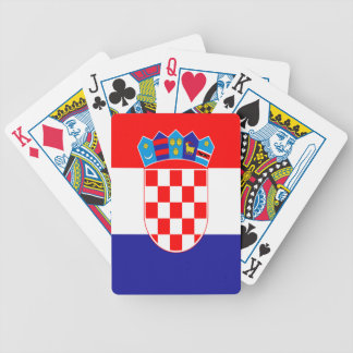Croatian flag bicycle playing cards