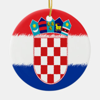Croatian Flag Ceramic Ornament