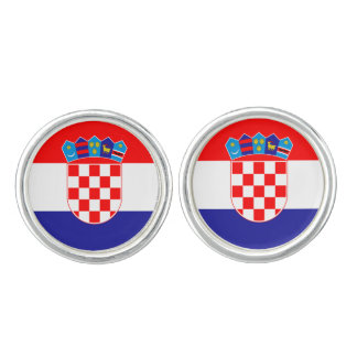 Croatian flag cufflinks | Croatia country colors
