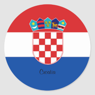 Croatian Flag design sticker