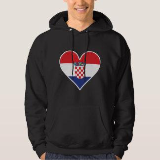 Croatian Flag Heart Hoodie