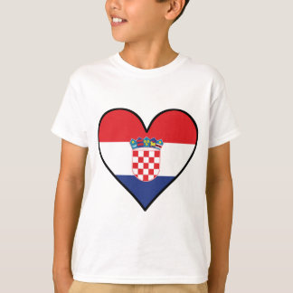 Croatian Flag Heart T-Shirt