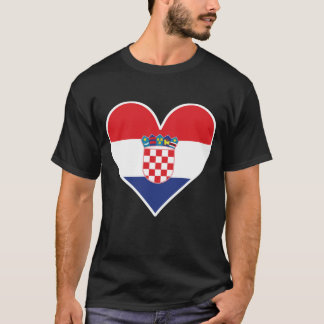 Croatian Flag Heart T-Shirt