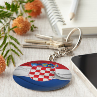 Croatian Flag Keychain
