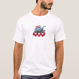 Croatian flag on a boat image on T-shirt