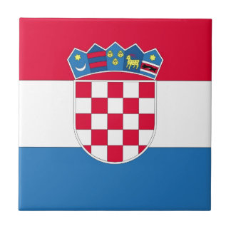 Croatian Flag or Flag of Croatia Tile