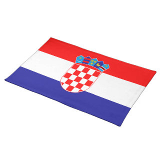 Croatian flag placemat