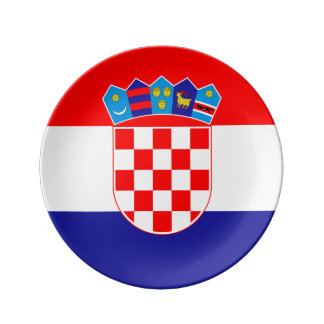 Croatian flag Plate
