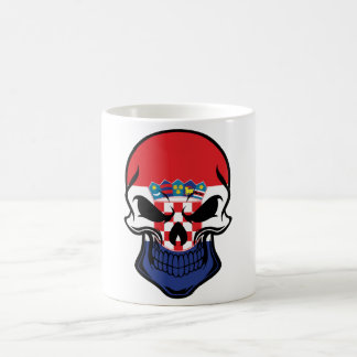 Croatian Flag Skull Coffee Mug