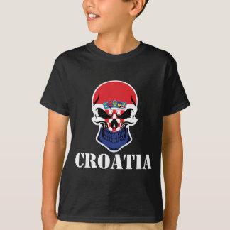 Croatian Flag Skull Croatia T-Shirt