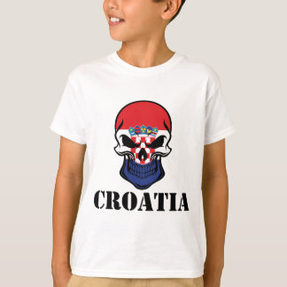 Croatian Flag Skull Croatia T-Shirt