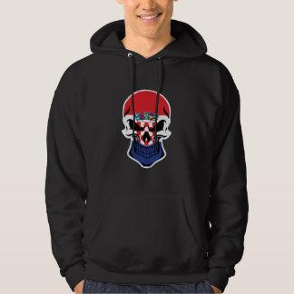 Croatian Flag Skull Hoodie