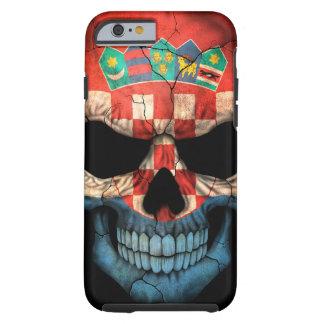 Croatian Flag Skull on Black Tough iPhone 6 Case