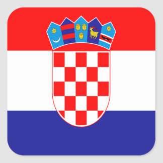 Croatian flag square sticker
