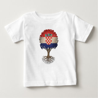 Croatian Flag Tree of Life Customizable Baby T-Shirt