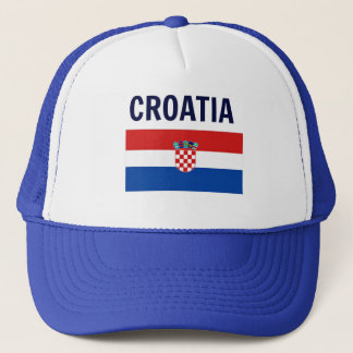 Croatian Flag Trucker Hat