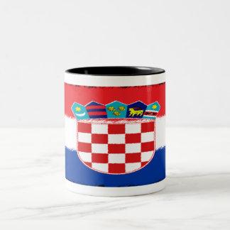 Croatian Flag Two-Tone Coffee Mug