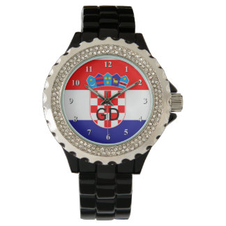 Croatian flag wrist watch for men and women